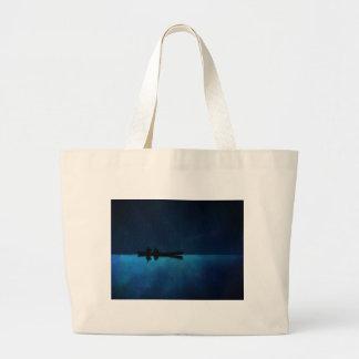 Night Canoe Large Tote Bag