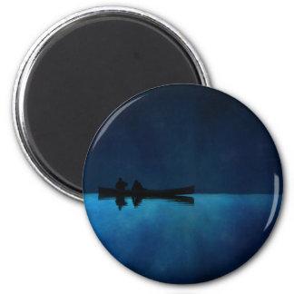 Night Canoe Magnet