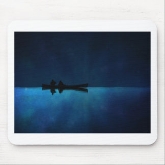 Night Canoe Mouse Pad