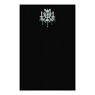 Night Chandelier ~ Stationery French Nouveau