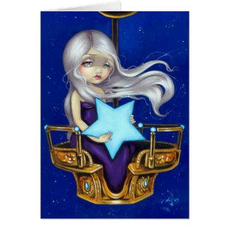 """Night Chariot"" Greeting Card"