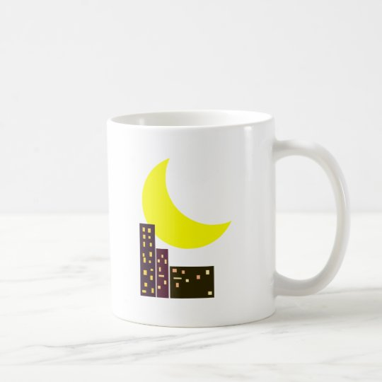 night city moon card coffee mug