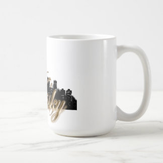 Night City View with Personalized Logo & Word Coffee Mug