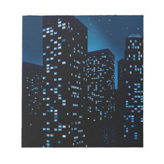 Night Cityscape Background Notepad