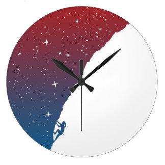 Night climbing II Large Clock