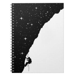 Night climbing spiral notebook