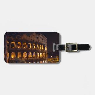 night colloseum luggage tag