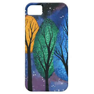 Night colour - rainbow swirly trees starry sky case for the iPhone 5
