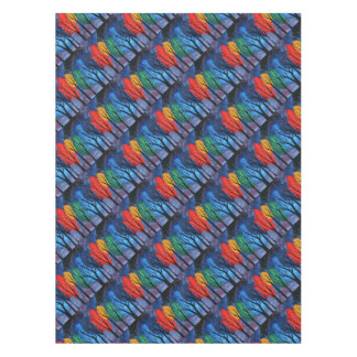 Night colour - rainbow swirly trees starry sky tablecloth