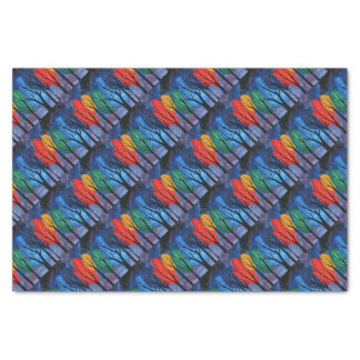Night colour - rainbow swirly trees starry sky tissue paper