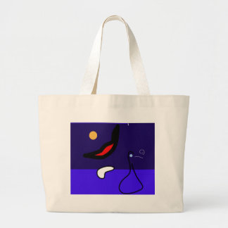 Night duck large tote bag