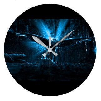 Night Eagle Large Clock