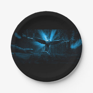 Night Eagle Paper Plate
