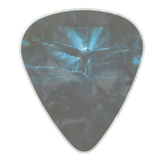 Night Eagle Pearl Celluloid Guitar Pick