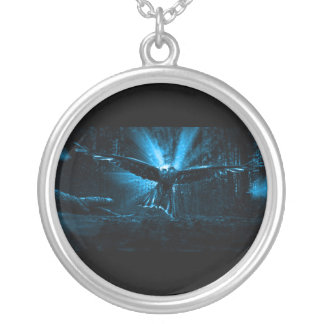 Night Eagle Silver Plated Necklace