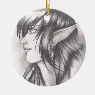 Night Elf.jpeg Ceramic Ornament
