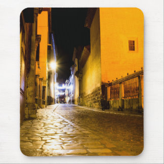 Night empty street mouse pad