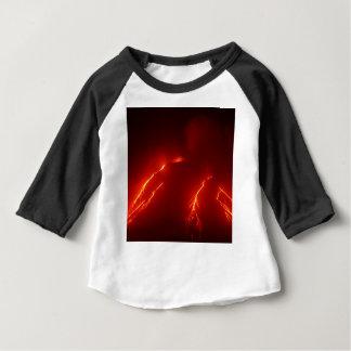 Night erupt volcano Klyuchevskaya Sopka Baby T-Shirt