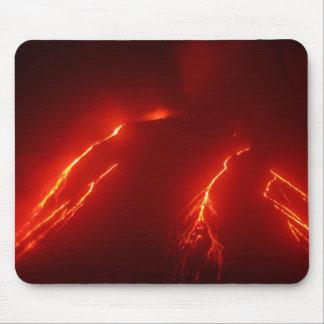 Night erupt volcano Klyuchevskaya Sopka Mouse Pad
