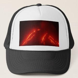 Night erupt volcano Klyuchevskaya Sopka Trucker Hat