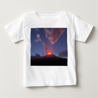Night eruption Klyuchevskaya Sopka in Kamchatka Baby T-Shirt