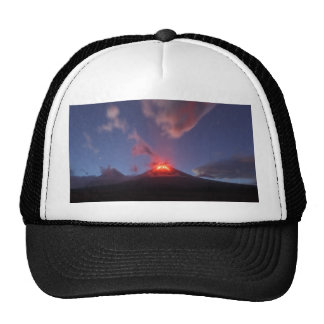 Night eruption Klyuchevskaya Sopka in Kamchatka Trucker Hat