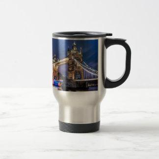 Night falls over Tower Bridge Travel Mug