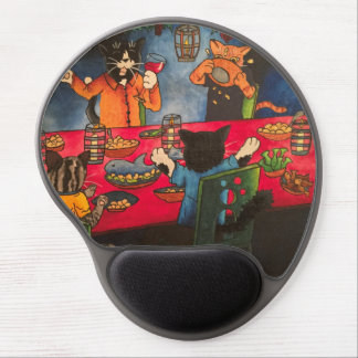 Night Feast Cats Gel Mouse Pad