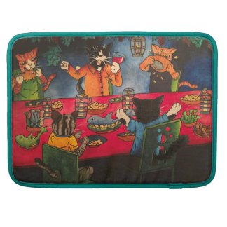 Night Feast Cats Sleeve For MacBook Pro
