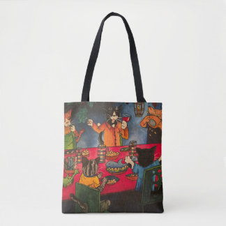 Night Feast Cats Tote Bag