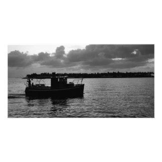 Night Fishing Personalized Photo Card