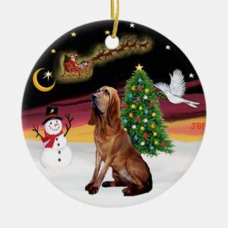 Night Flight - Bloodhound Ceramic Ornament