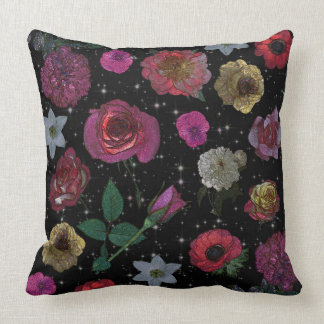 "Night Garden Cotton Throw Pillow 20"" x 20"""