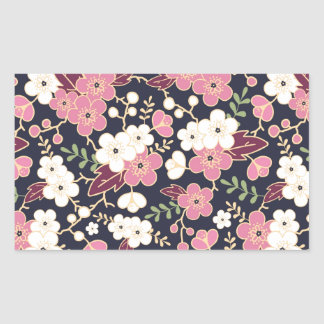 Night Garden Flowers Pattern Sticker