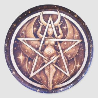Night Goddess Pentacle Stickers