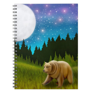 Night Grizzly Bear Notebook