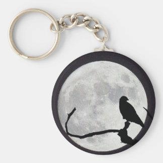 Night Hawk Basic Round Button Keychain