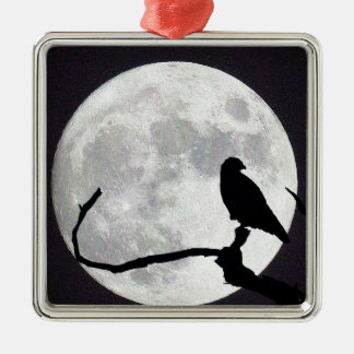 Night Hawk Metal Ornament