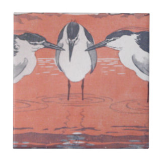 Night Herons by Otto Eckmann Tile