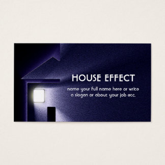 Night House Light Electricity and Winter Business Card