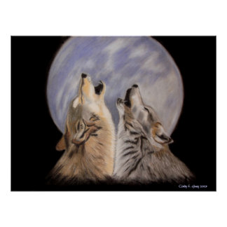 Night Howls (Wolves) Poster