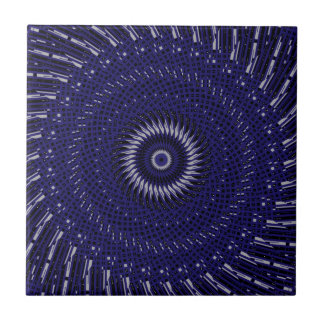 Night in the City Spiral Kaleidoscope Tile