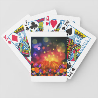 Night is full of color enjoying life bicycle playing cards
