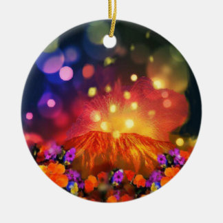 Night is full of color enjoying life ceramic ornament