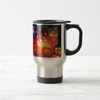 Night is full of color enjoying life travel mug