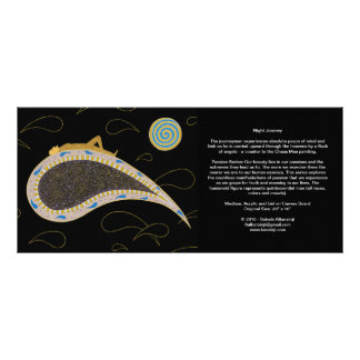 Night Journey and Chaos Man - Long Card Rack Card Template