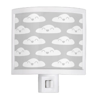 """Night just got dreamy and adorable"" white gray Nite Lights"