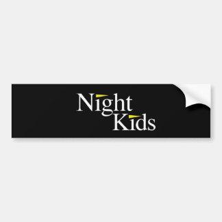Night Kids Black Bumper Sticker