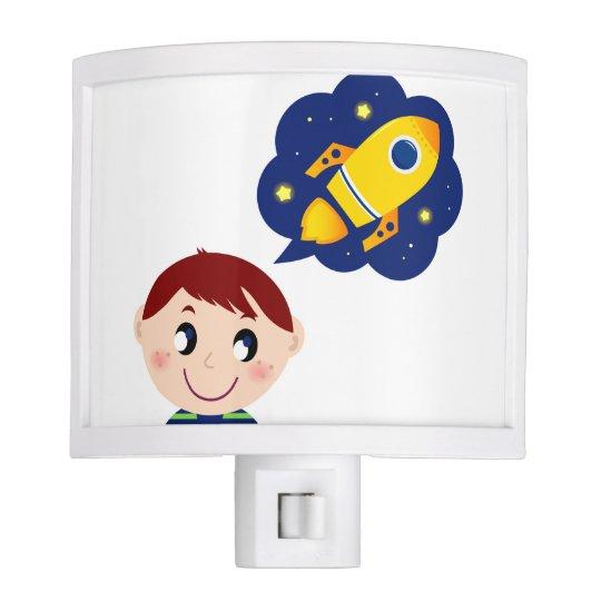 Night lamp with Little boy Nite Light