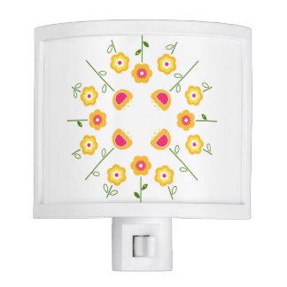 Night lamp with yellow Flowers Night Lights